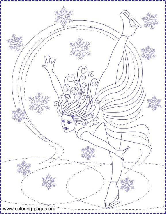 bratz ice skating coloring pages - 9 best ice skating to colour images on pinterest