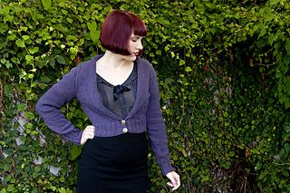 Sophisticated and simple, Hortencia is an easy-to-knit seamless cardigan that works equally well with sleek pencil skirts and fun, full-skirted dresses. The upper back is knit first and placed on hold. Stitches are picked up from the cast-on edge and knit down to create the fronts. The fronts and back are joined when the underarm stitches are cast on, and the body is knit down in one piece. Sleeves stitches are picked up around the armholes, shaped using short rows, and worked downwards to…