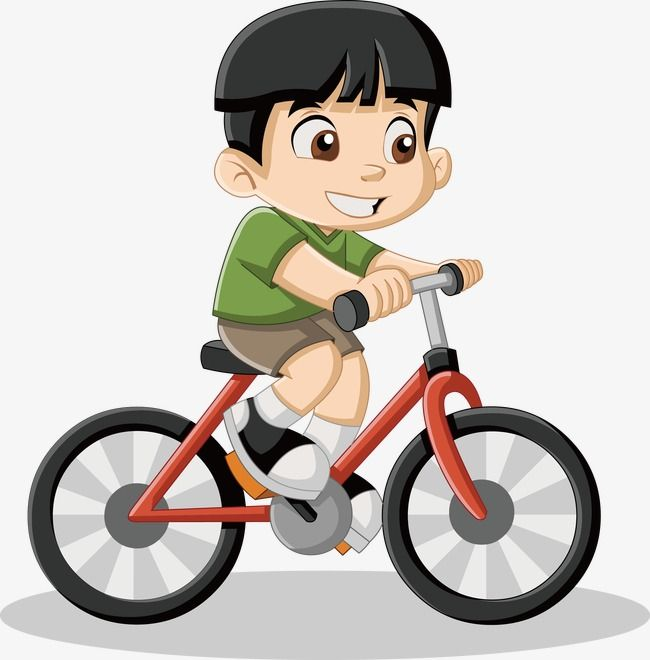 Little Boy Riding A Bike Vector Boy Vector Bike Vector Little