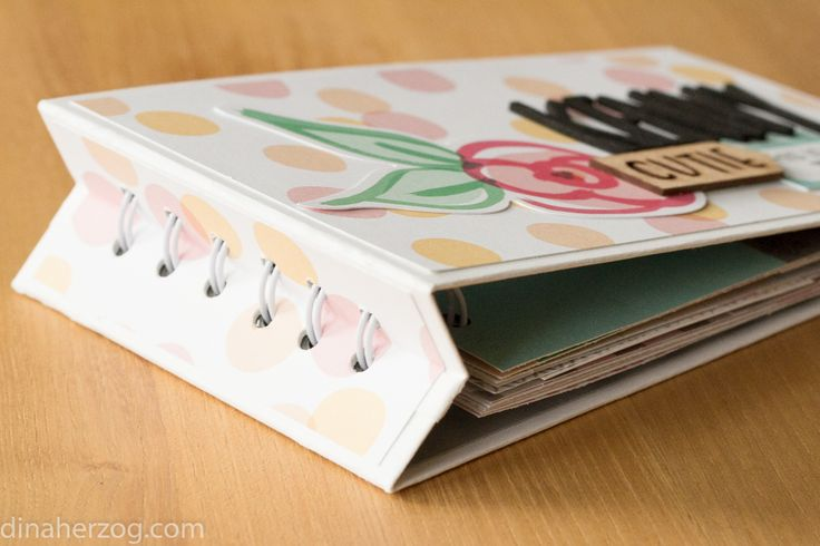 Tutorial: Minialbum mit versunkener Ringbindung