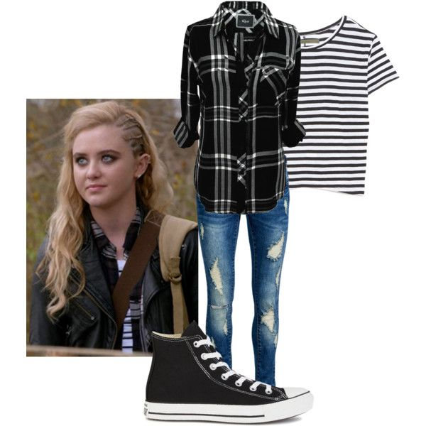 Claire Novak | Supernatural by shattered-night on Polyvore featuring Rails, Enza Costa, ONLY and Converse