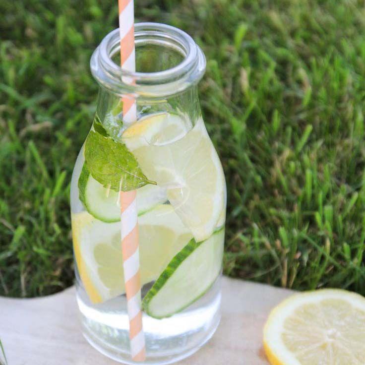 Détox water- citron menthe concombre gingembre