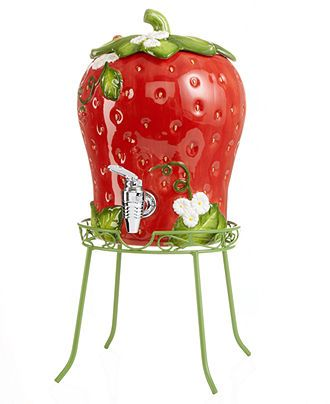 Martha Stewart Collection Serveware, Strawberry Beverage Dispenser - Serveware - Dining & Entertaining - Macy's