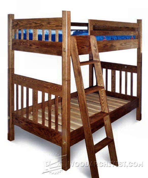 45 best children 39 s furniture plans images on pinterest for Mission bed plans