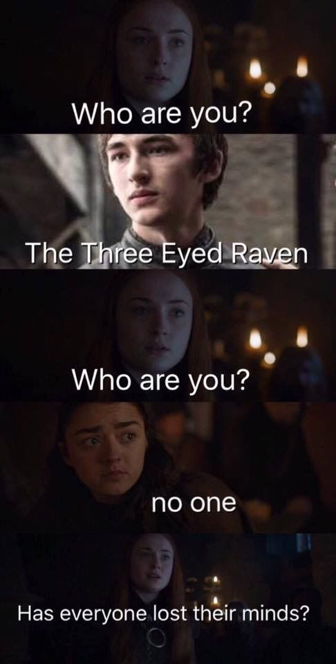 Sansa, Bran and Arya Stark, Game of Thrones.