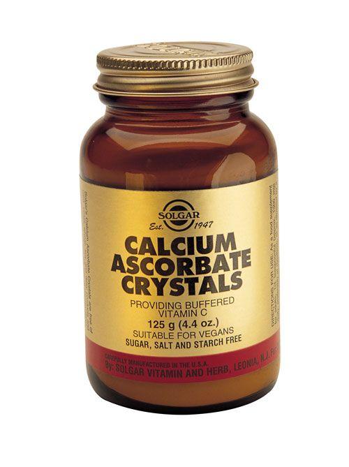 Solgar Vitamins Calcium Ascorbate Crystals 250 gram poeder - Solgar Calcium Ascorbate Crystals heeft een positieve invloed op het immuunsysteem en zorgt mede voor een goede weerstand.