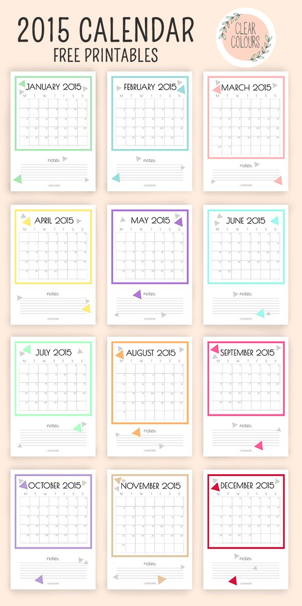 I love to share a printable 2015 calendars! I notice several other talented bloggers share their own printable calendars! Here are a few that caught my eye!