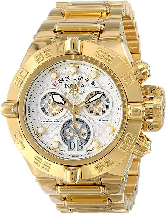 5bcc68fc2c9 Amazon.com  Invicta Men s 14499 Subaqua Analog Swiss-Quartz Gold Watch   Invicta  Watches