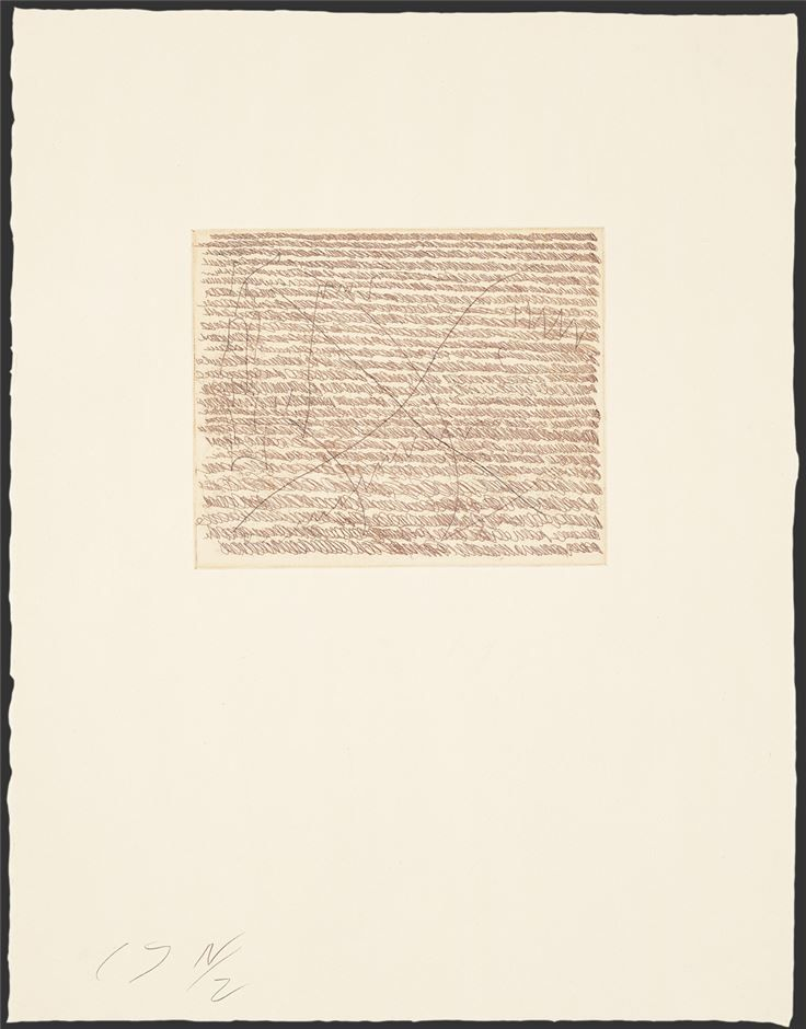 Cy Twombly,Note I,1967