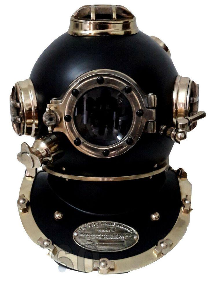 Antique 18 US Navy Diving Helmet Mark V Deep Sea Divers