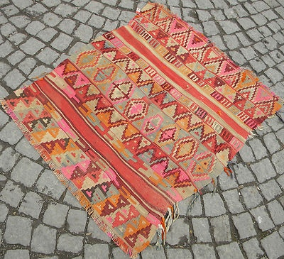 Antique Turkish Rug Fragment 36 Quot X 41 Quot Hand Woven Wool