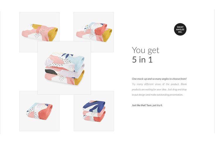 2 Types Towels Mock Up Set Generator Marketing Words Mocking Selling Photos