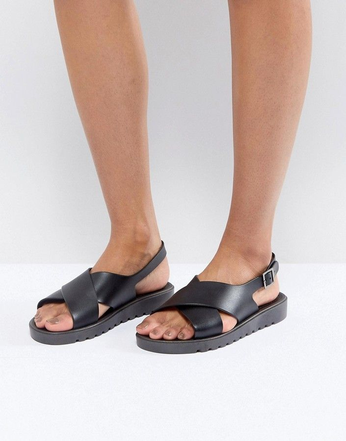 f4ded8c2165003 Asos Frequent Jelly Flat Sandals