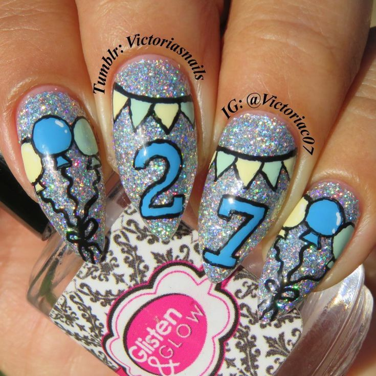 50 Stylish Birthday Nail Designs Ideas With Images Birthday