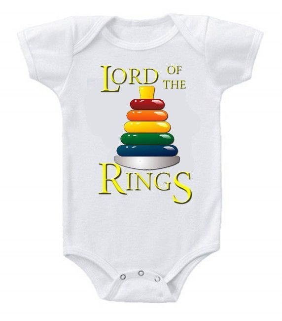 Funny Humor Custom Baby Bodysuits Creeper Lord of the Rings