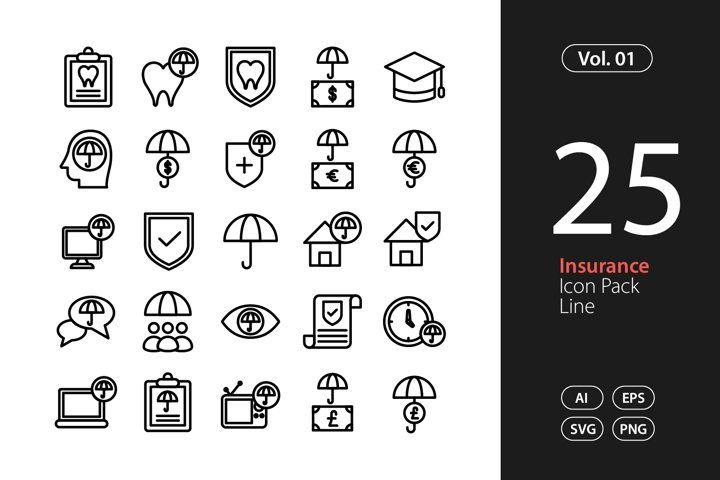 Insurance Icon Line Svg Eps Png 854601 Icons Design Bundles Icon Eps Icon Design
