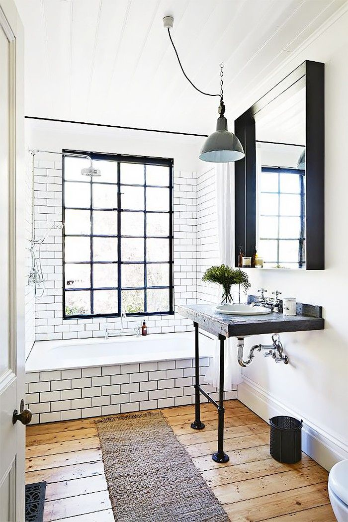 15 Tiny Bathrooms With Major Chic Factor via @MyDomaine... although this doesn't classify as tiny in my opinion, it is beautiful!