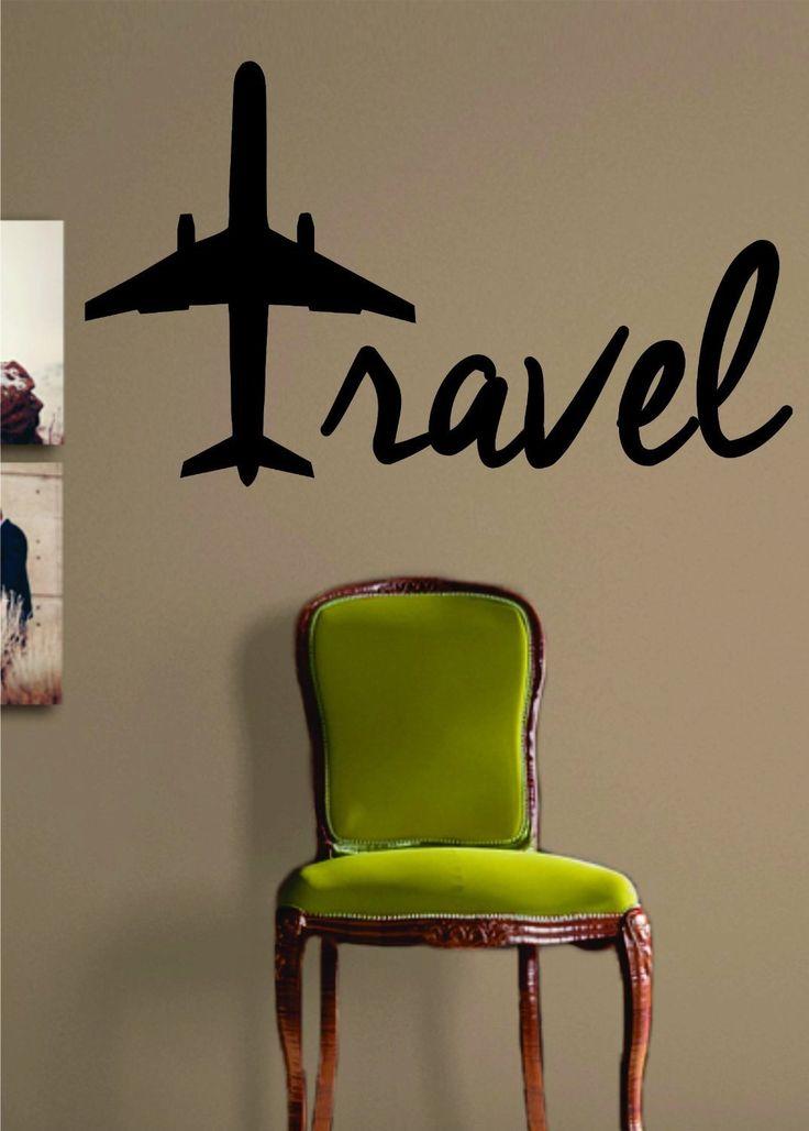 Geordiet viaje avi n cita letras palabras pared adhesivo - Letras vinilo pared ...