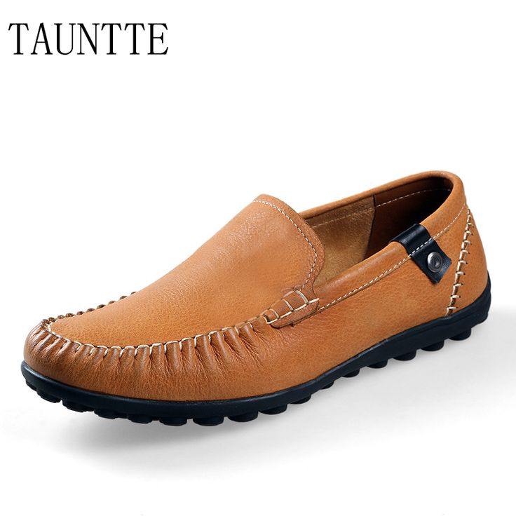>> Click to Buy << Tauntte Plus Size Fashion Genuine Leather Shoes Korean Style Men Casual Loafers Breathable Non slip Mocassin Shoes #Affiliate