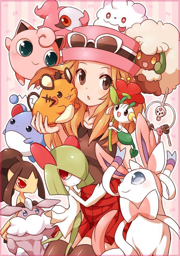 Serena et... beaucoup de pokémons, j'ai la flemme de tout dire. X)