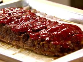 Ina Garten Meatloaf - the trick is to put a pan of hot water in the oven also to prevent the top from cracking & drying out