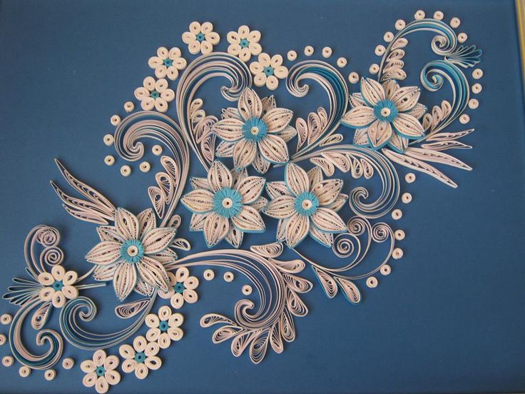 Beautiful floral ~ by Lőrinczi Zsuzsa ~ Quillingworld
