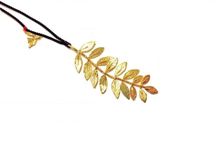 Altın Kaplama Yaprak Kolye Zet.com'da 220 TL