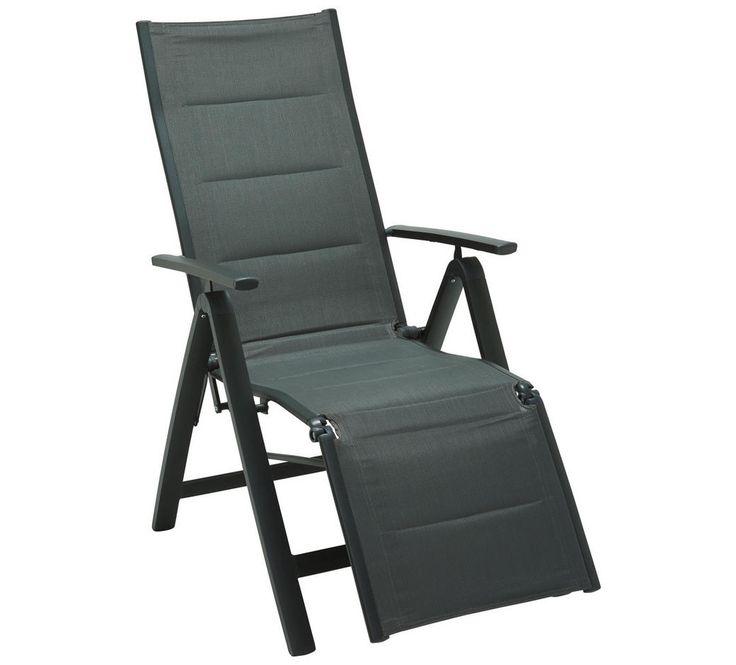 Garten Relaxsessel Aluminium Anthrazit Grau Konventionell Textil Metall 60 110 72cm Relaxsessel Outdoor Stuhl Gartenstuhle