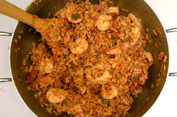 *I LOVE jambalaya.  And I have tried recipes from all over the net looking for the very best shrimp/chicken/andouille mix.  And this one is it...so far.