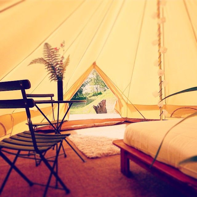 Because you're worth it...live the high life with our dozens of #luxury sites across the UK and Europe. (Haircare products not included.) Browse now: https://www.pitchup.com/campsites/-/luxury  Pic from Sunridge #Glamping, #Devon. Bell #tent starts from just £23pppn.
