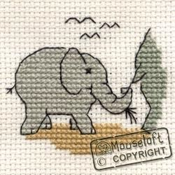 Stitchlets Baby Elephant Cross Stitch Kit 004-903stl