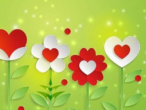 Flower & hearts