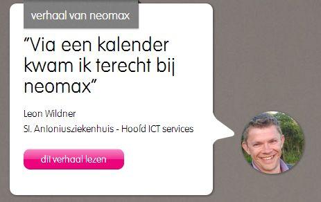Leon, klant van neomax, vertelt over zijn 3xBLIJ ervaringen met neomax. http://neomax.nl/3xblij/via-een-kalender-kwam-ik-terecht-bij-neomax/