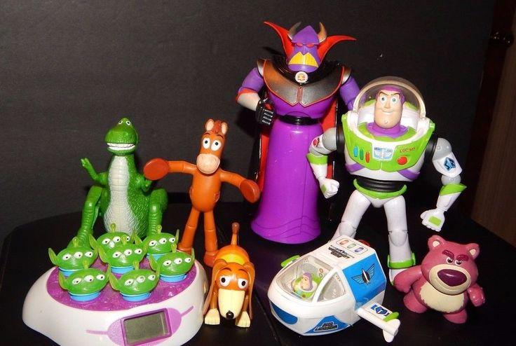 Disney Pixar Toy Story Figure Lot Zurg Buzz Lightyear in Space Ship Aliens 8 PC #Pixar