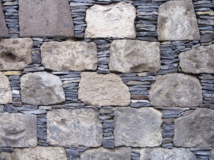 rock and slate wall