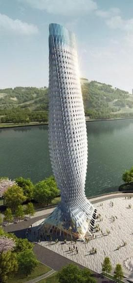 ✿ ❤ Doumen Observation Tower, Zhuhai, China by RMJM :: height 93m [Futuristic Architecture: http://futuristicnews.com/category/future-architecture/]