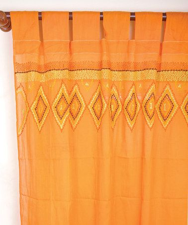 Take a look at this Rust Orange Western Curtain Panel by Karma Living on #zulily today!
