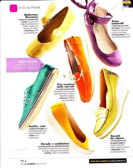 El Naturalistan violetti el Viajero -kenkä pääsi italialaisen Starbene-lehden toukokuun numeroon!