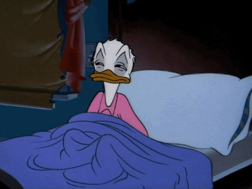 """gameraboy: """" I'm going back to bed. Drip Dippy Donald (1948) """""""