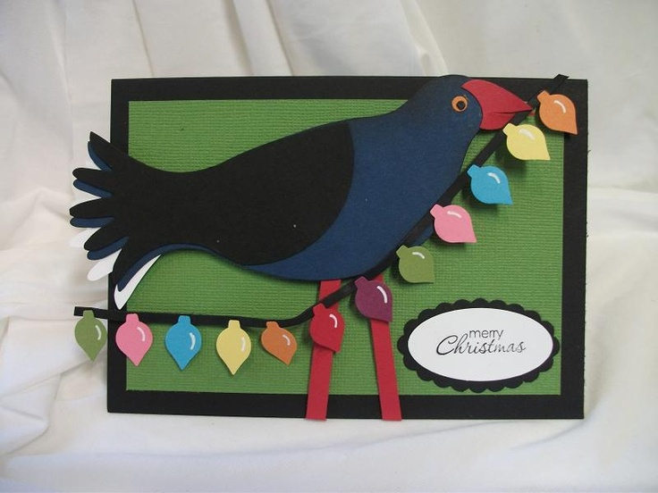 Julia's Cards: Pukeko's have arrived!! All Stampin' Up!--this bird is simply adorable.  What a creative mind this lady has!!!