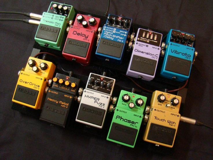 Boss all the way on this board. It's arranged in such a way that all pedals are easily replaceable with... you guessed it, another Boss pedal. Brand loyalty does have its advantages you know.