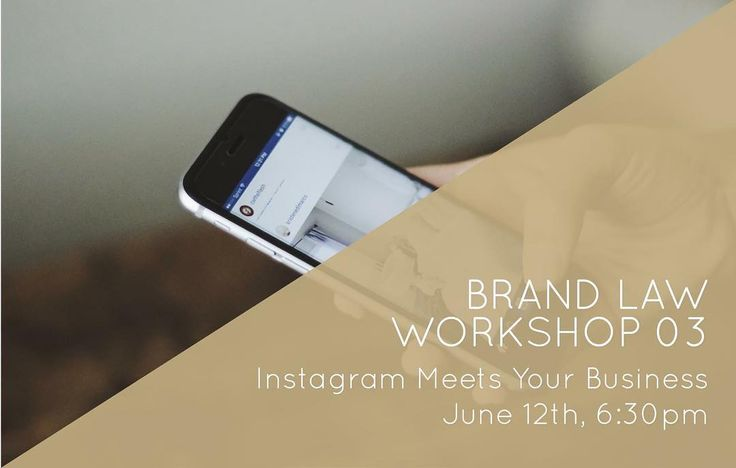 So you know theres more to Instagram but you can't work it out?  We'll be easing all your Instagram woes in our next Brand Law Workshop - Instagram Meets Your Business   We will be talking about everything from why you should have Instagram for your business and how to use it to creating campaigns and making it look pretty!  Click the link in our bio for more information!