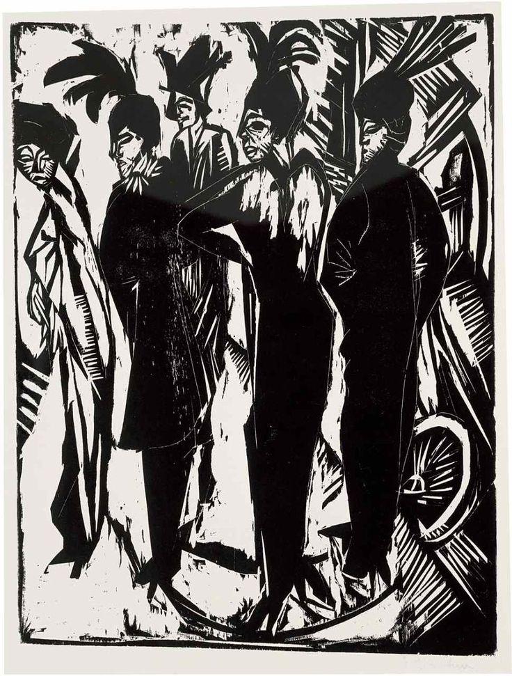 Ernst Ludwig Kirchner, Holzschnitt, um 1913.