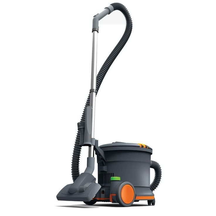 Hoover Commercial Hush Tone Canister Vacuum Cleaner, Grays