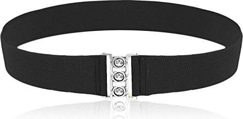 LUNA Fashion 2 Inch Elastic Cinch Belt - Plus - Black - http://todays-shopping.xyz/2016/07/01/luna-fashion-2-inch-elastic-cinch-belt-plus-black/