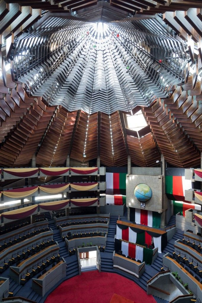 Nordic Pavilion @ Venice Architecture Biennale 2014. Kenyatta International Conference Center, Nairobi, Kenya. 1966–1973. Architect: Karl Henrik Nøstvik. Photo by Iwan Baan.