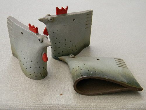 "Slepička | Fler.cz - what a cute idea! Not typically a ""chicken"" fan but these caught my eye"