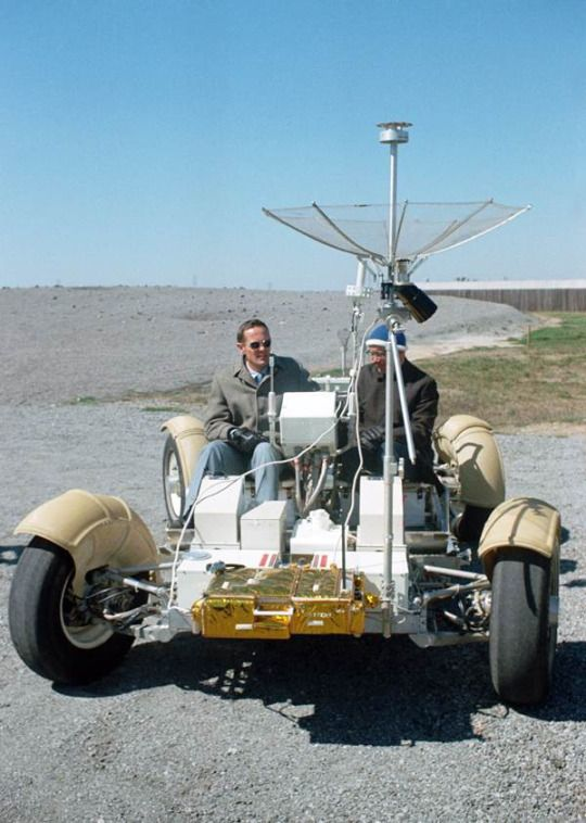 The training version of the Apollo 16 lunar rover, 16 March 1971. (NASA)