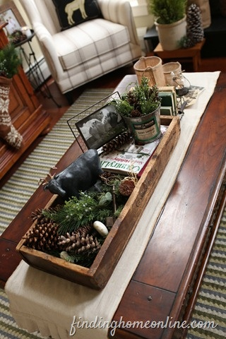 coffee table display - so full! love it