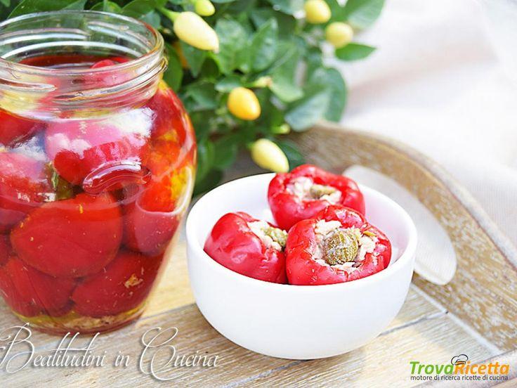 Peperoncini ripieni al tonno  #ricette #food #recipes